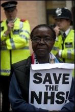 Protesting in London, May 2011, photo Paul Mattsson