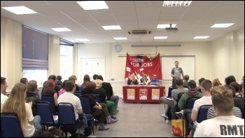Youth Fight for Jobs national meeting 10 June 2012, photo Socialist Party