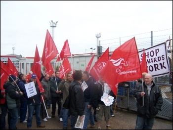 Coryton refinery workers to spread protests , photo by  Socialist Party