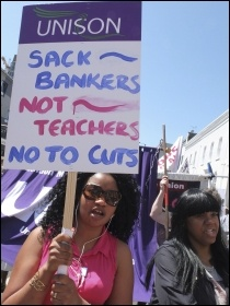 Hackney College UCU members protest June 2012