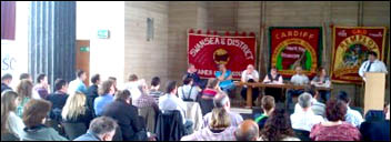 Wales Shop Stewards Network conference 2012, photo by Wales Socialist Party