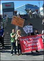 TUSC campaigning at the Olympic Park during the London Assembly elections 2012, photo London Socialist Party
