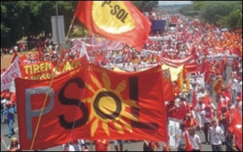 PSOL on demo in Brazil