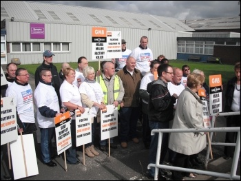Remploy workers' national strike against closures 19 July 2012, photo by Elaine Brunskill