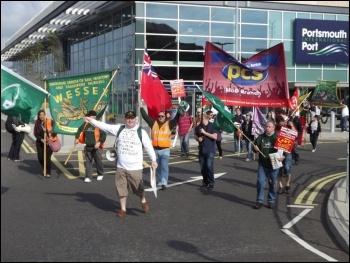 RMT demo against Condor 'sweatships', 21.7.12, photo by Daz Procter
