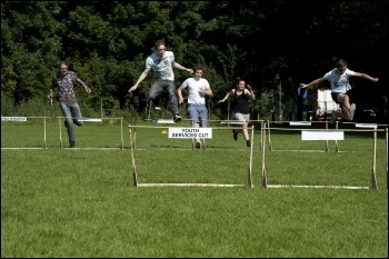 Hardship Hurdles at the YFJ Austerity Games, 23.7.12, photo by Paul Mattsson