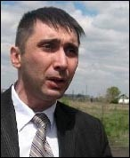 Vadim Kuramshin, a prison rights campaigner in Kazakhstan, photo CWI