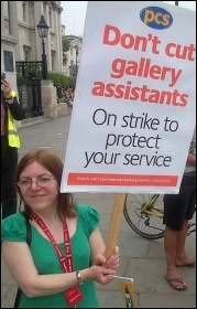 PCS members at the National Gallery struck for 2 hours on 27.7.12, photo by Kevin Parslow