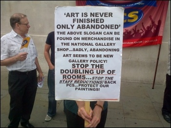 National Gallery strike, 27.7.12, photo by Kevin Parslow
