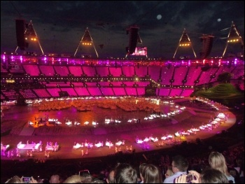 London Olympics opening ceremony, photo by Alison Hill