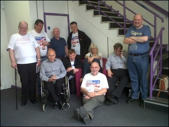 Remploy reps occupying the HQ of Remploy in Leicester, 23 August 2012