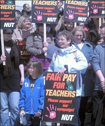 Southampton teachers on strike 24 April , pic Nick Chaffey