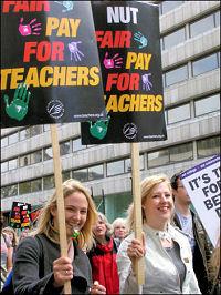 Teachers on strike on 24 April 2008, photo Martin Powell-Davies