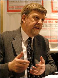 Dave Nellist, Coventry Socialist Pary councillor, photo Paul Mattsson