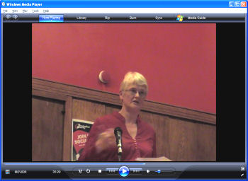 Clare Doyle, speaking on France 1968 in London May 2008