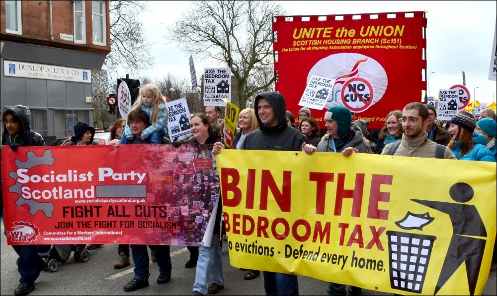 Socialist Party Scotland Bedroom Tax Close To Death