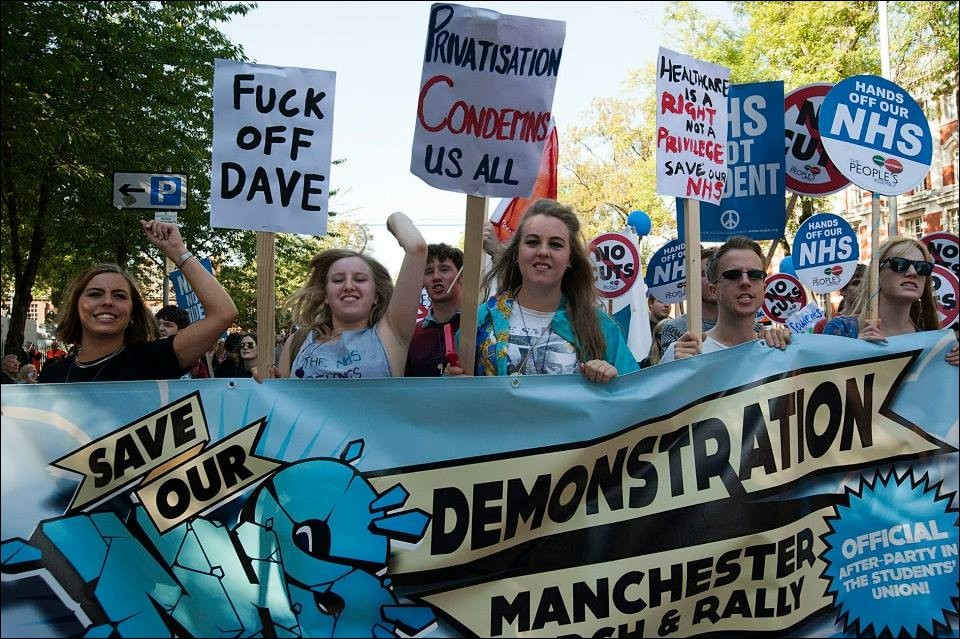 demo manchester NHS
