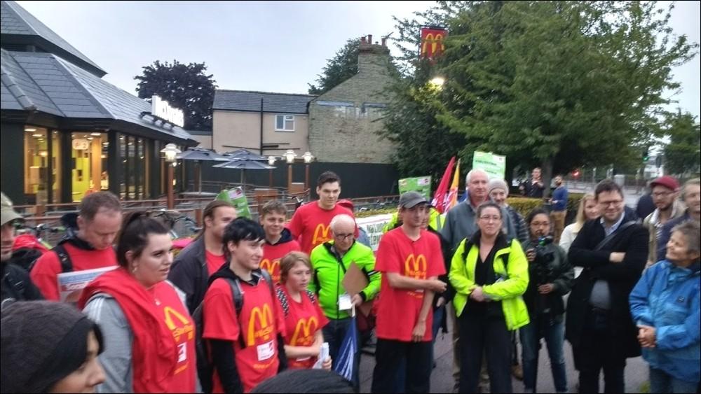 McDonald's staff stage first-ever United Kingdom strike