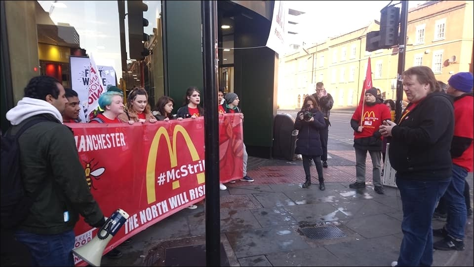 Why are McDonald's staff on strike and are stores open today?